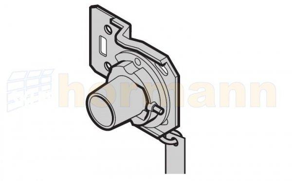 Zabezpieczenie przed pęknięciem sprężyny i stożek mocujący, wersja lewa