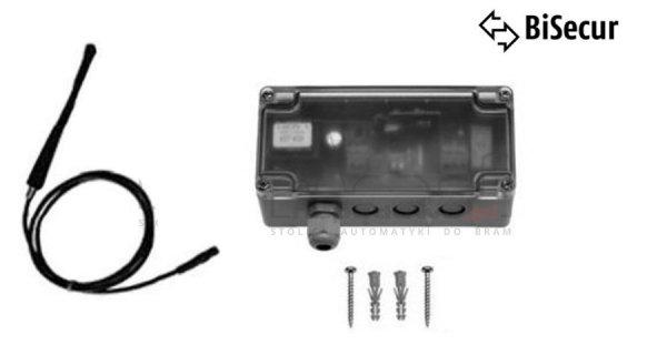 Odbiornik 1-kanałowy RERE 2 na 100 miejsc w pamięci z zewnętrzną anteną (1 wyjście przkaźnikowe do wyboru: impuls, włącz/wyłącz, 3 min. światło)