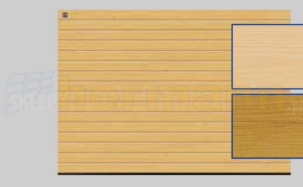 Brama LTH, 5000 x 2125, Przetłoczenia S, Świerk