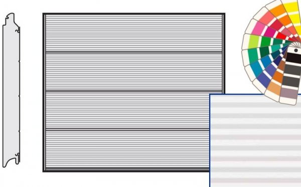 Brama LPU 42, 2750 x 2250 Przetłoczenia L, Micrograin, kolor do wyboru