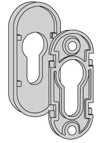 Owalna rozeta zabezpieczająca do drzwi ThermoPro