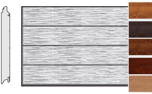 Brama LPU 42, 5000 x 2125, Przetłoczenia L, Decograin, okleina drewnopodobna