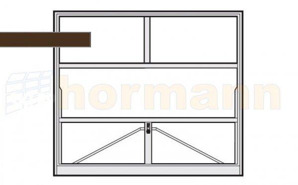 Brama uchylna N 80, 2375 x 2375, Wzór 905 do wypełnienia