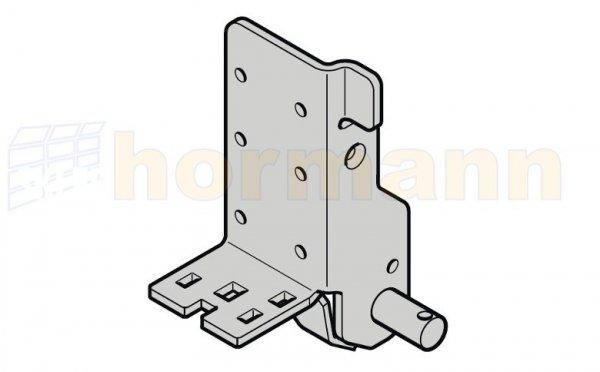 Dolny uchwyt rolki, wzmocniony, głębokość montażowa 42, typ prowadzenia H, HD, HS, HU, HB, V, VU, VS, VB, NH, ciężar płyty bramy od 401 kg, prawy