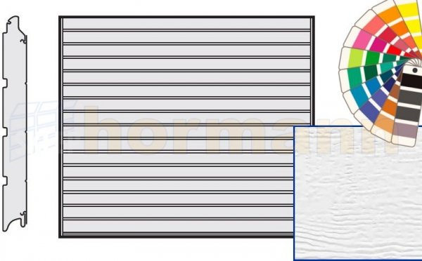 Brama LPU 42, 2315 x 2080, Przetłoczenia S, Woodgrain, kolor do wyboru