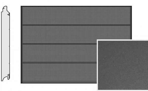 Brama LPU 42, 5000 x 2125, Przetłoczenia L, Decograin, Titan Metallic CH 703