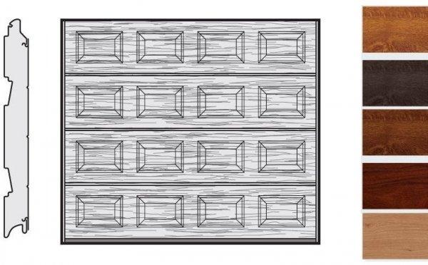 Brama LPU 42, 2500 x 2000, Kasetony S, Decograin, okleina drewnopodobna