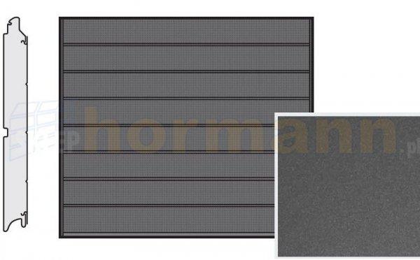 Brama LPU 42, 2440 x 1955, Przetłoczenia M, Decograin, Titan Metallic CH 703