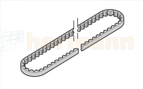 Pas zębaty do prowadnicy (szyny) FS60 / FS6, krótka, do SupraMatic H (następca artykułu o numerze 438695)