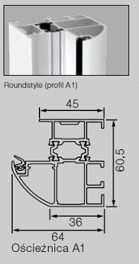 Drzwi ThermoPro Wzór TPS 515, kolor do wyboru