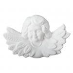 Anioł płaski - głowa w skrzydłach. Rozmiar 7x4 cm