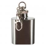 Mini piersiówka-brelok ze stali nierdzewnej. Rozmiar 4x6 cm