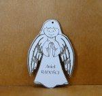 Anioł dyplom drewniany