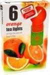 PODGRZEWACZ 6 SZTUK TEA LIGHT Orange