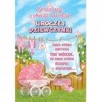 Karnet Gratulacje z okazji narodzin uroczej dziewczynki