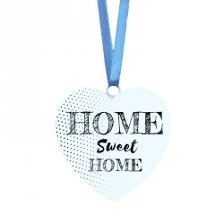 Drewniana tabliczka w kształcie serca z napisem Home Sweet Home