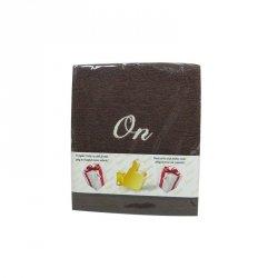 Ręcznik haftowany 'ON  , kolor brązowy