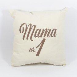 Mama nr 1 Poduszka bawełniana dwustronna