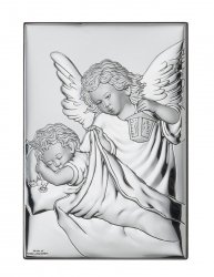 Obrazek Aniołek z latarenką z modlitwą 6x9 cm