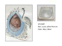 Ramka bocian w kolorze niebieskim