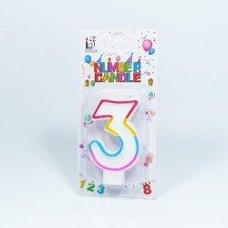Świeczka urodzinowa '3 '