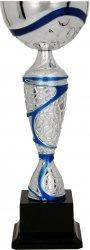 Puchar metalowy srebrno-niebieski
