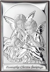 Obrazek Aniołki nad dzieckiem 'Pamiątka Chrztu'