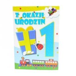 Kartka Z Okazji 1 Urodzin, ciuchcia