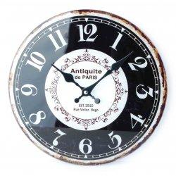 Zegar szklany okrągły 30x4cm ANTIQUITE C CYFRY ARABSKIE