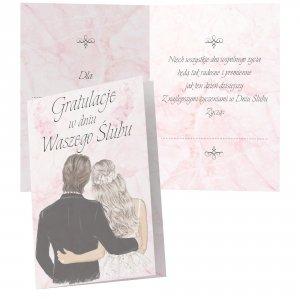 Duży karnet Gratulacje w Dniu Waszego Ślubu - niech wszystkie dni wspólnego życia...