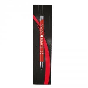 Długopis w opakowaniu z napisem Super Mama
