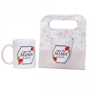 Kubek ceramiczny w ozdobnym opakowaniu z napisem Jedyna taka Mama na świecie