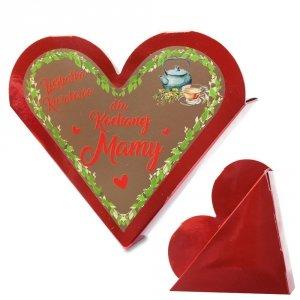 Serce z napisem Herbatka Kwiatowa dla Kochanej Mamy
