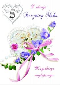 Kartka Z Okazji 5  Rocznicy Ślubu