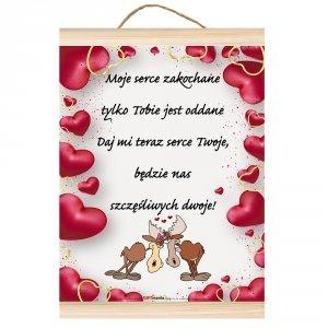 Dyplom dla zakochanych Moje serce zakochane tylko Tobie jest oddane...
