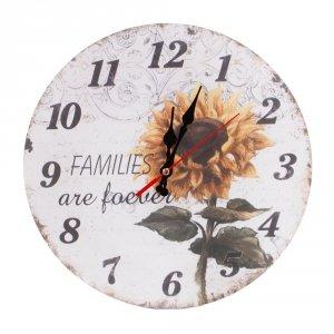Zegar drewniany MDF - słonecznik