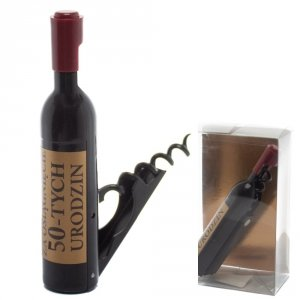 Otwieracz do wina w kształcie butelki, 50-urodziny