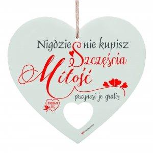 Drewniana tabliczka w kształcie serca Nigdzie nie kupisz...