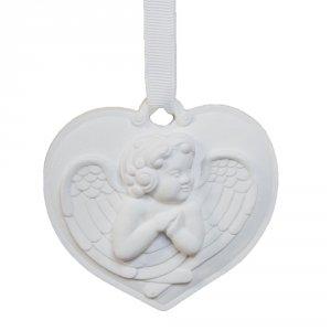 Zawieszka serce aniołek