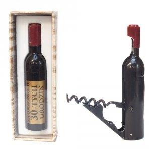 Otwieracz do wina w kształcie butelki, 30-urodziny