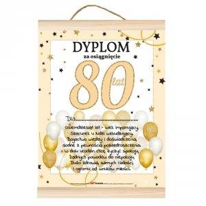 Dyplom dla niej za osiągnięcie 80 lat