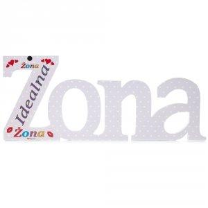 Kolorowy napis ze styroduru ŻONA - Idealna Żona druk uv
