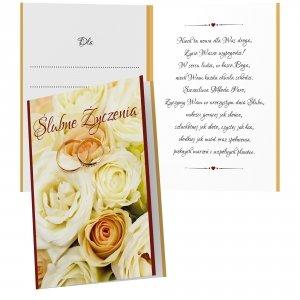 Duży karnet Ślubne Życzenia - niech ta nowa dla was droga