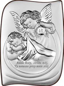 Obrazek Aniołek z latarenką z Modlitwą 9, 5x13 cm