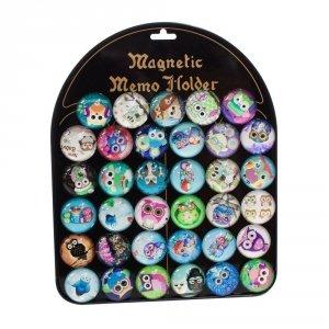 Zestaw 35 magnesów - sowy