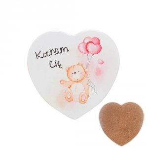 Ceramiczna podkładka pod kubek z napisem  Kocham Cię