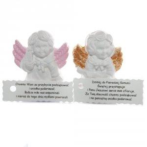 Anioł malowany z dedykacją, mix wzorów
