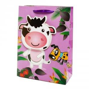 Torebka prezentowa 3D dziecięca, krowa