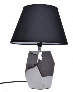 LAMPA CERAMICZNA SREBRNA