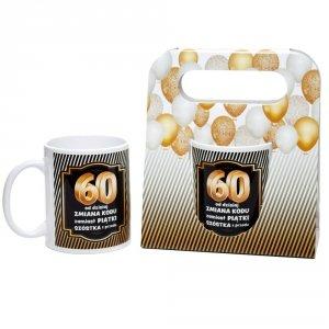Kubek ceramiczny urodzinowy w ozdobnym opakowaniu 60